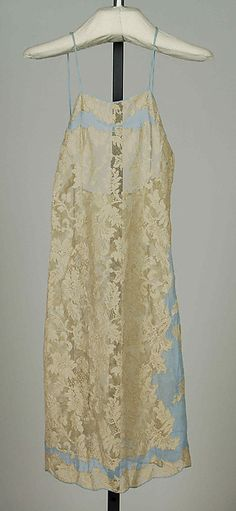Slip Date: ca. 1937 Culture: French Medium: Silk Credit Line: Brooklyn Museum Costume Collection at The Metropolitan Museum of Art, Gift of the Brooklyn Museum, 2009; Gift of Mrs. Stanley Mortimer, 1972 Accession Number: 2009.300.7818