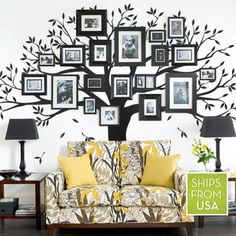 Family Tree Wall Decal by Simple Shapes #familytree #walldecal #homedecor