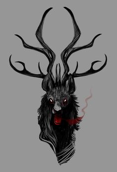 I just really like drawing antlers :|  this one might end up on a shirt Idk..