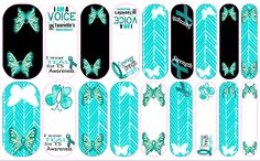 Jamberry nails.. I never paint my fingernails but I will wear these in May to show my son that I support him.