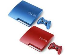 Sony has just announced several new colors for its super-slim PlayStation 3 console and PlayStation Vita handheld. Gamers can now enjoy a new Garnet Red and Azurite Blue color for the while Vita owners can basked in the new Ice Silver color. Playstation Consoles, Playstation Games, Games Consoles, Wii, Play Station 3, Nintendo, Custom Consoles, Latest Iphone, Amazing Spiderman