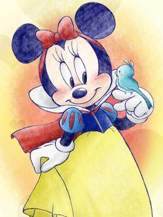 Minnie Mouse as Snow White