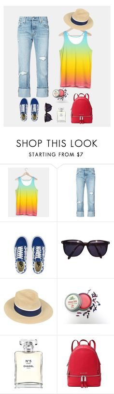 """Chic Outfit #3"" by pureclothingco on Polyvore featuring Paul Frank, Levi's, Vans, Sonia Rykiel, Maison Michel, Chanel, MICHAEL Michael Kors, outfit, chic and womenfashion"