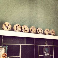 Wood burning signs. welcome. Rustic