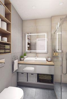 Moderrn apartment in Comfort Town on Behance Exterior Design, Interior And Exterior, Kitchen Room Design, Apartment Interior, Best Interior, Small Spaces, Layout, Modern, Behance