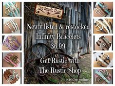 http://www.therusticshop.com/?store=rusticwesternwearanddecor or www.rusticjen.com. Online shop for all your rustic wear, purses, jewelry, home & outdoor decor.
