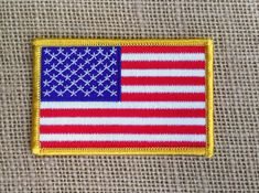 USA Flag Patch Iron On American Flag Patch by RainbowEffectsTieDye