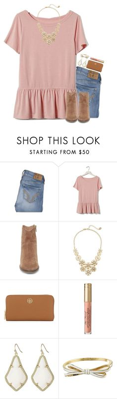 """Just started school today! And I'm already in that fall spirit!"" by thedancersophie ❤ liked on Polyvore featuring Hollister Co., Banana Republic, Steve Madden, Kate Spade, Tory Burch and Kendra Scott"