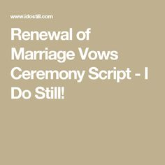 Looking for a sample ceremony for the renewal of marriage vows that can be used by your officiant at your vow renewal? Renewal Of Marriage Vows, Vow Renewal Ceremony, Wedding Renewal Vows, Wedding Ceremony, 25 Year Anniversary, 25th Wedding Anniversary, Anniversary Parties, Wedding Gifts For Guests, Wedding Ideas