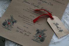 Alice in Wonderland Scroll Invitation