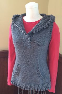 Ravelry: Mulberry Hooded Vest pattern by Angela Hahn