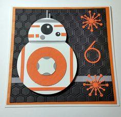 Star Wars BB8 birthday card for Evan