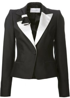 Pleated Bow Tux Jacket - Lyst