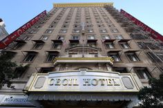 The Cecil Hotel in Los Angeles, CA (now known as Stay On Main) - Former home to TWO serial killers (Richard Ramirez in 1985 and Jack Unterweger in 1991). Rumor has it this was also the last place Elizabeth Short (The Black Dahlia) was seen alive. In February 2013 the naked, decomposing body of 21-year old Canadian student Elisa Lam was found in one of the water towers on the roof of the building. She'd been there for at least 20 days.