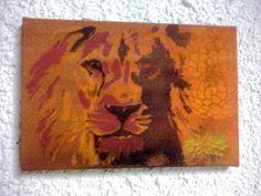 Spray in canvas.. Lion