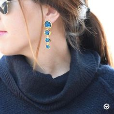 Do y'all hear that? Maybe it's just me but I hear the ocean calling...these midnight druzy drops (I die at the names of BB pieces & nail polish colors) are so pretty & the ocean blue color is so perfect for spring! Headed somewhere fun for spring break or just want to get in the island state of mind these are perfect & the price is jussssst right! Get all the details when you download the new @liketoknow.it app & LIKE or SCREENSHOT this post! All of your likes/screenshots are sent straight…