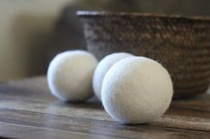 Wool Dryer Balls – Set of 3 - Organic Dryer Balls - All Natural Dryer Sheets- Wholesale - felted laundry balls - eco-friendly reusable Best Ina Garten Recipes, Laundry Dryer, Pet Hair Removal, Wool Dryer Balls, Dog Blanket, Cat Hair, Sheep Wool, Cleaning Hacks, Cleaning Products