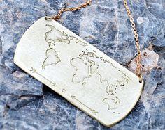 World Map Earrings / Travel Earrings / Wanderlust by Bubblebox