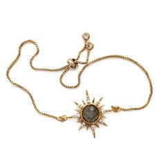 Gemstone Starburst Bracelet – Labradorite – Elizabeth Stone Jewelry Gemstone Starburst BraceletYou can f. Cute Jewelry, Silver Jewelry, Vintage Jewelry, Jewelry Accessories, Jewelry Necklaces, Jewelry Design, Gold Bracelets, Silver Ring, Vintage Bracelet