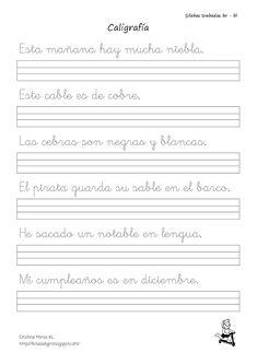 Conlección de fichas de caligrafía trabadas mixtas y directas -Orientacion Andujar Kids Learning Activities, Handwriting, Lettering, Education, Art, Handwriting Exercises, Texts, Frases, Writing Exercises