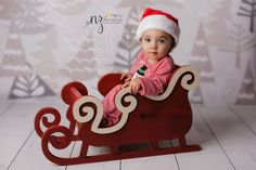 Sleigh Photo Prop, Christmas Photo Prop, Newborn Photo Prop - Regular size