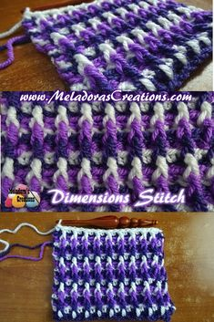 Crochet Tutorial Patterns - Share this: This Free Crochet pattern teaches how to make a textured stitch that goes very well with many colors used. Also it's a very warm stitch that you can turn into a very … Crochet Video, Crochet Geek, Crochet Crafts, Crochet Baby, Crochet Projects, Free Crochet, Knit Crochet, Crochet Tutorials, Video Tutorials