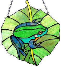 TiffanyHomeDecor.com - Frog Stained Glass Window Panel, $89.95 (http://www.tiffanyhomedecor.com/frog-stained-glass-window-panel/)