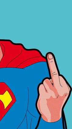 Superman - giving the finger - cartoon - Wallpaper Do Superman, Pop Art Wallpaper, Marvel Wallpaper, Colorful Wallpaper, Black Wallpaper, Cartoon Wallpaper, Disney Wallpaper, Mobile Wallpaper, Wallpaper Quotes