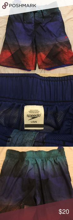 Men's Speed Swimming Trunks Nice. Only worn 2x Speedo Swim Swim Trunks