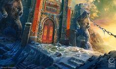 City gates - game scene by aleksandr-osm