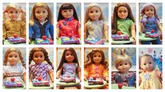American Girl Doll Play: Our School Pictures to Share with You! Sewing Patterns Free, Clothing Patterns, Free Pattern, Og Dolls, Girl Dolls, American Girl Accessories, School Pictures, My Girl, Doll Clothes