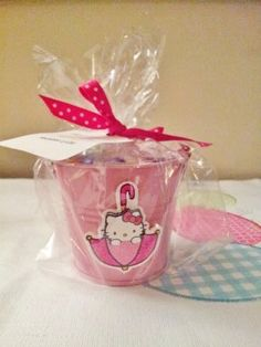Hello Kitty Party Favor with Sticker Hello Kitty Baby Shower, Hello Kitty Theme Party, Hello Kitty Themes, Hello Kitty Cake, Hello Kitty Birthday, 4th Birthday Parties, 3rd Birthday, Birthday Ideas, Party Gifts