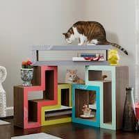 KATRIS Cat Scratcher System & Blocks | Cat Tree Condo Furniture Shelves | Different Covers & Styles