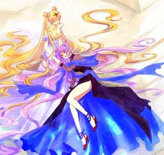 princess serenity | Princess Serenity and Black Lady