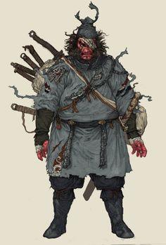 warrior, Yuankai Li on ArtStation at https://www.artstation.com/artwork/0322V