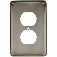 Style Selections�1-Gang Satin Nickel Standard Single Receptacle Steel Wall Plate