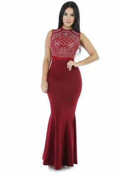 Burgundy Maxi Bodycon Dress with sleeveless design Club Dresses, Prom Dresses, Dress Skirt, Bodycon Dress, Maxi Skirts, Beautiful Long Dresses, Beautiful Ladies, Dress Brands, Dress For You