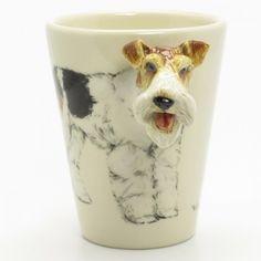 Wire Fox Terrier Dog Mug 00002 Ceramic 3D Handmade Dog Lover Gift