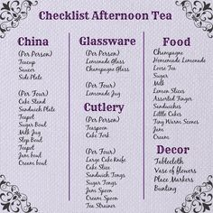 Everything you need for afternoon tea