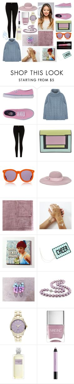 """""""Fu """" by anette-rivera ❤ liked on Polyvore featuring Vans, Current/Elliott, Pierre Hardy, Karen Walker, Maison Michel, Eleventy, shlomitofir, Miadora, Nails Inc. and Givenchy"""
