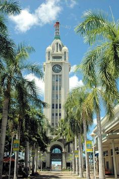 Aloha Towers, Honolulu, Hawaii, very nice shopping and dining area.