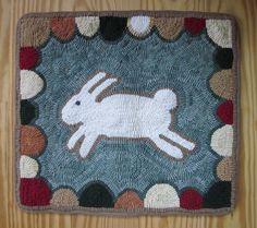 wonderful primitive hooked rug