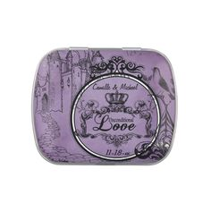 Custom Unconditional Love Wedding Favor Tin Candy Tins