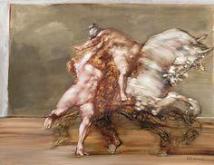 Claude Weisbuch (French, 1927-2014), L'enlèvement [The abduction]. Oil on canvas, 115 × 90 cm.