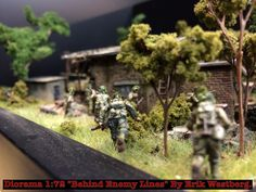 """""""Behind enemy lines"""" Diorama in 1/72 made by Erik Westberg Sweden. ( 1:72 wwII ww2 1/35 1:35 #diorama #1/72 #1:72 #d-Day #airborne braille scale modelling ) D-Day DDay caesar dragon revell panther airfix Italeri"""