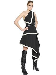 MCQ Alexander McQueen - One Shoulder Wool Dress - LUISAVIAROMA - LUXURY SHOPPING WORLDWIDE SHIPPING - FLORENCE (What a fabulous frock!)