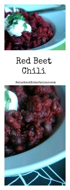 Red Beet Chili at ReluctantEntertainer.com