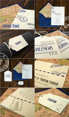Feeling inspired by these luggage tag invites!