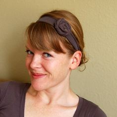 Recycled Tshirt headbands! So easy!