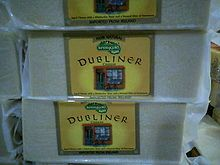 Dubliner Cheese. Drizzle a bit of honey on it and bake on a great piece of bread.. so good